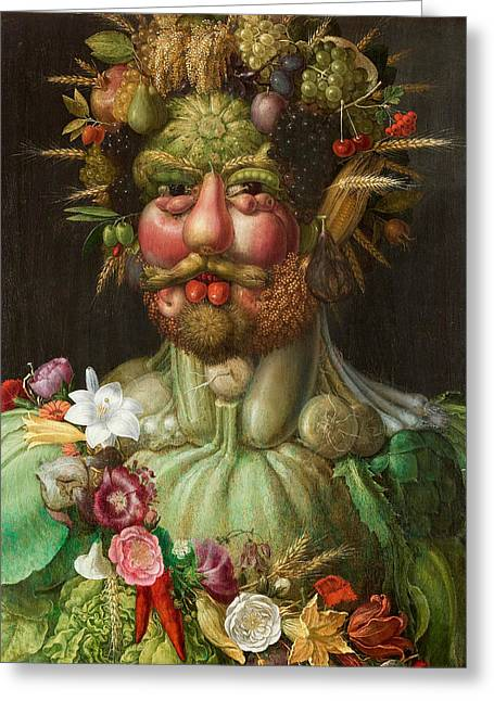 Rudolf II Of Habsburg As Vertumnus Greeting Card