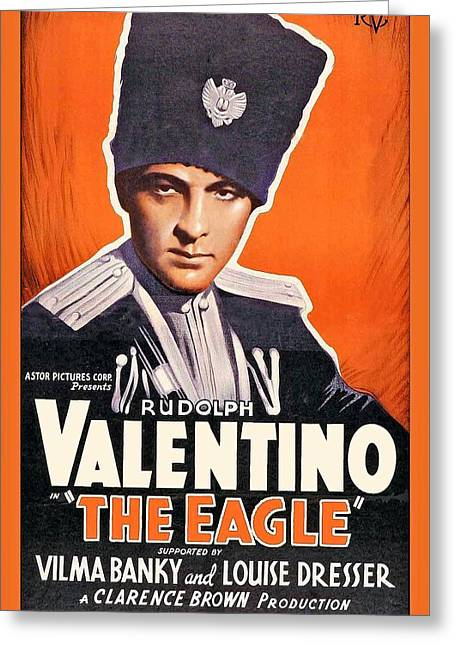 Rudolph Valentino In The Eagle 1925 Greeting Card