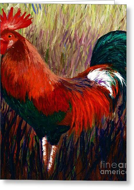 Rudy The Rooster Greeting Card