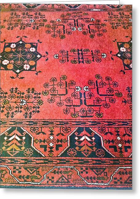 Rug Pattern Greeting Card by Tom Gowanlock