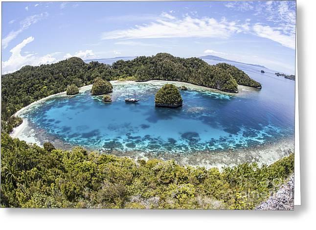 Rugged Limestone Islands Surround Greeting Card by Ethan Daniels