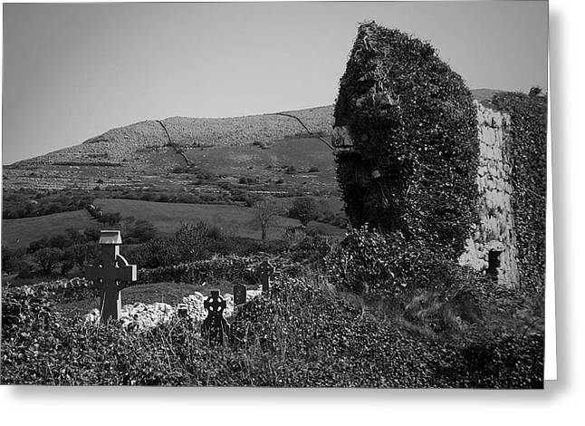 St. Clare Greeting Cards - Ruins in the Burren County Clare Ireland Greeting Card by Teresa Mucha