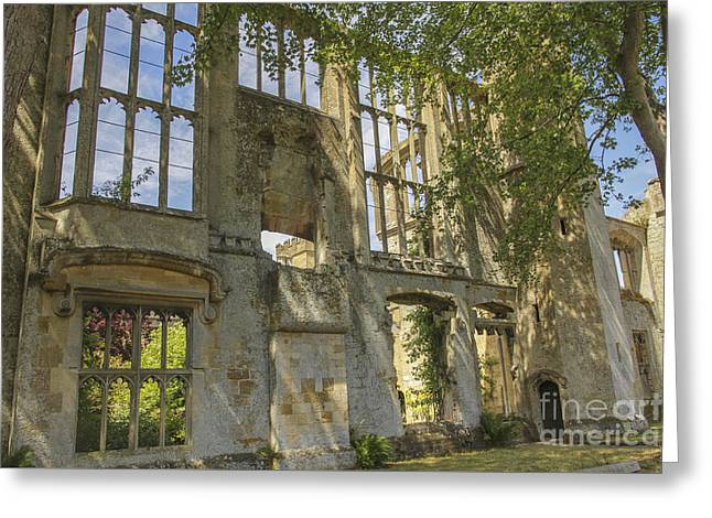 Ruins Of A Grand House Greeting Card by Patricia Hofmeester