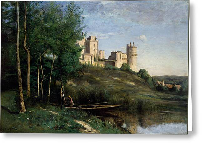 Ruins Of The Chateau De Pierrefonds Greeting Card