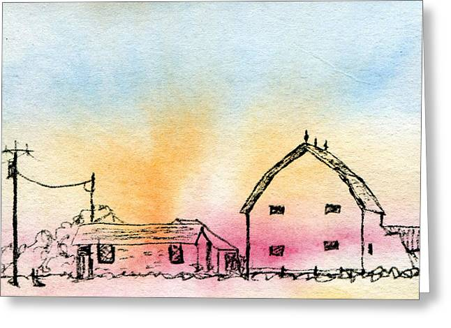 Rural Nostalgia Greeting Card