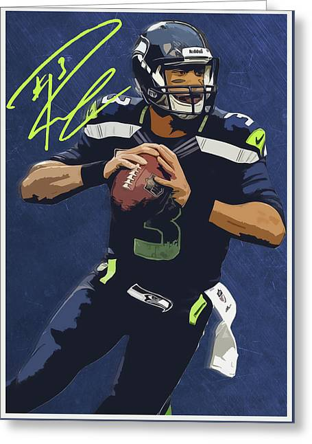 Russell Wilson 2 Greeting Card by Semih Yurdabak