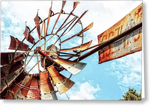 Rusted Windmill Greeting Card