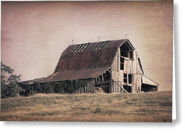 Rustic Barn Greeting Card by Tom Mc Nemar
