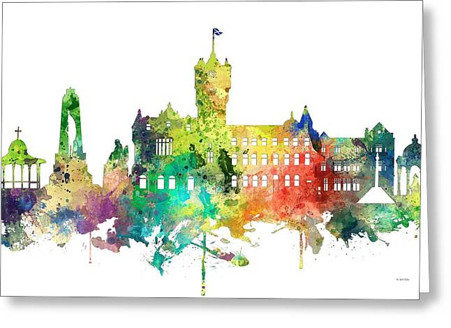 Rutherglen Scotland Skyline Greeting Card