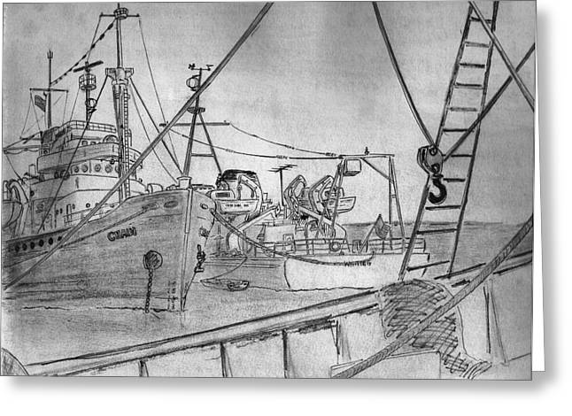 Rv Chain And Uscgss Whiting Greeting Card
