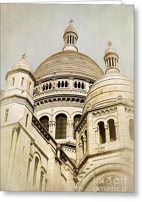 Sacre Coeur Sepia Greeting Card by Jane Rix