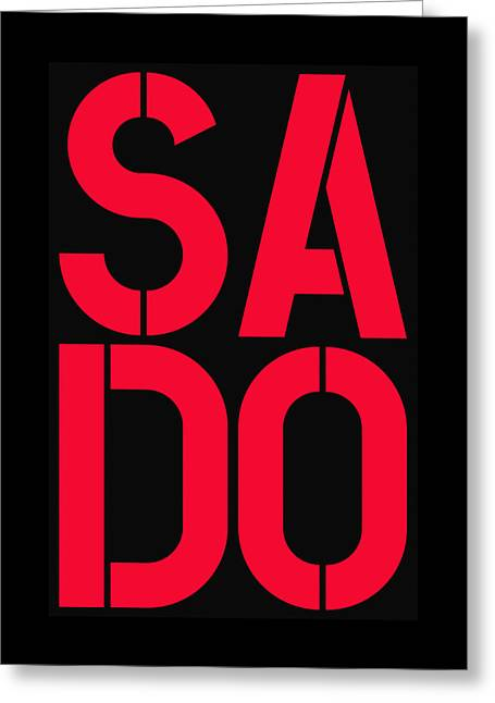 Sado Greeting Card by Three Dots