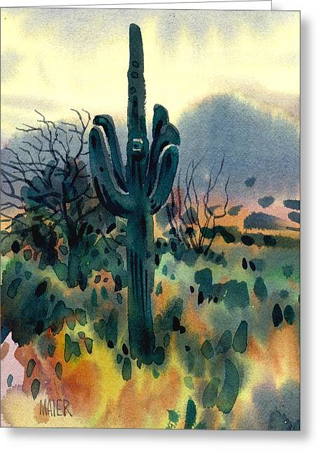Saguaro Greeting Card by Donald Maier