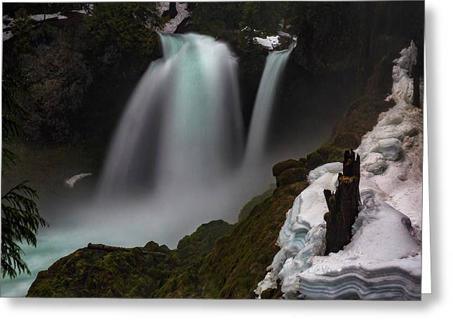 Greeting Card featuring the photograph Sahalie Falls by Cat Connor