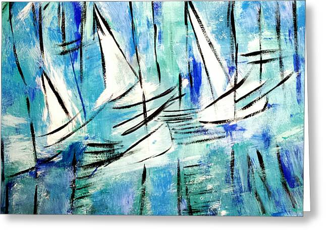 Sailing Blue Greeting Card