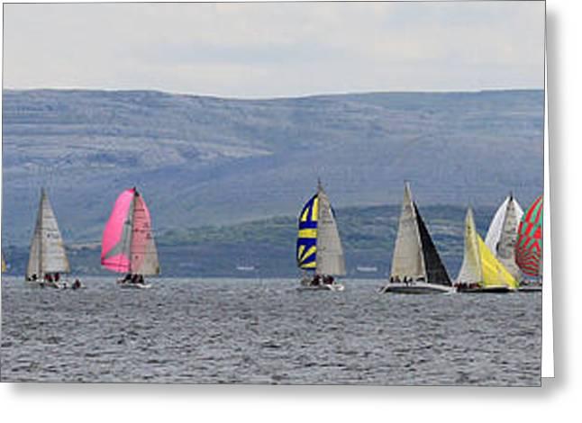 Sailing In Galway Bay Ireland Greeting Card