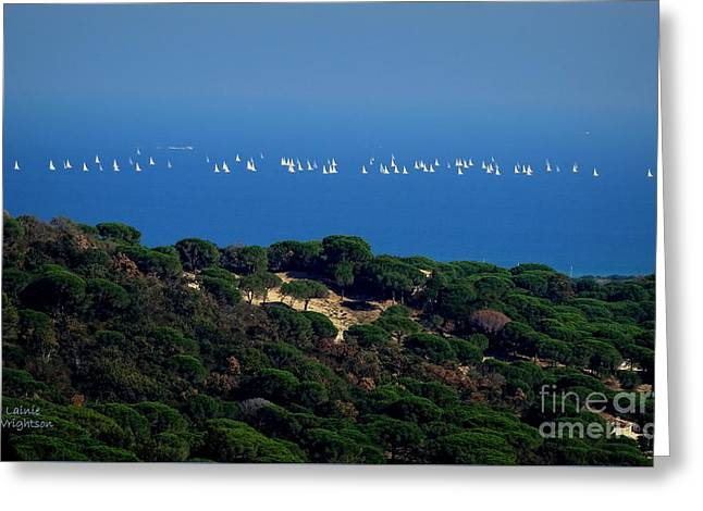 Sailing The Mediterranean Greeting Card