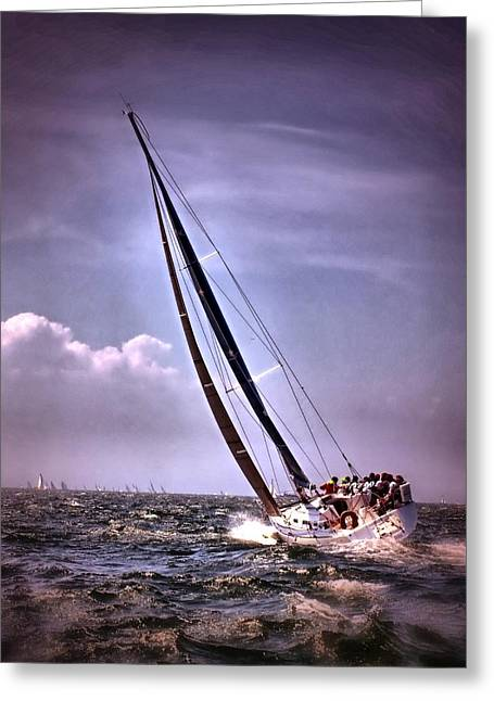 Sailing To Nantucket 003 Greeting Card