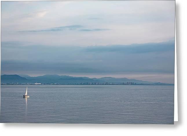 Sailing To Shore Greeting Card