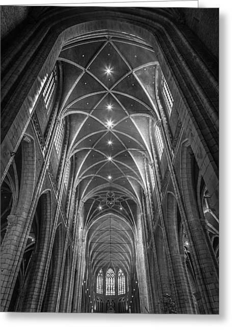 Saint Bavo's Cathedral Greeting Card by Chris Fletcher