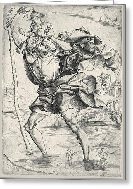 Saint Christopher Greeting Card