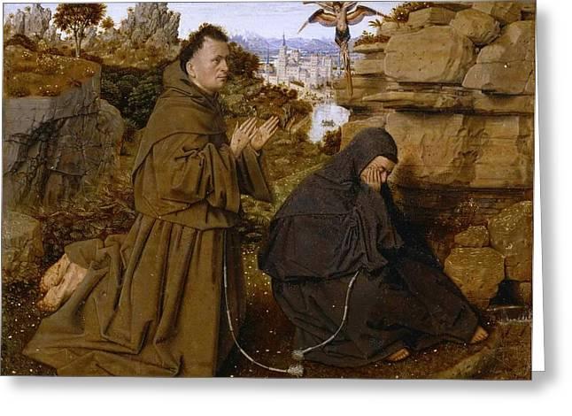 Saint Francis Of Assisi Receiving The Stigmata Greeting Card