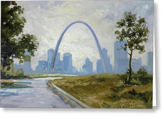 Saint Louis Panorama Greeting Card