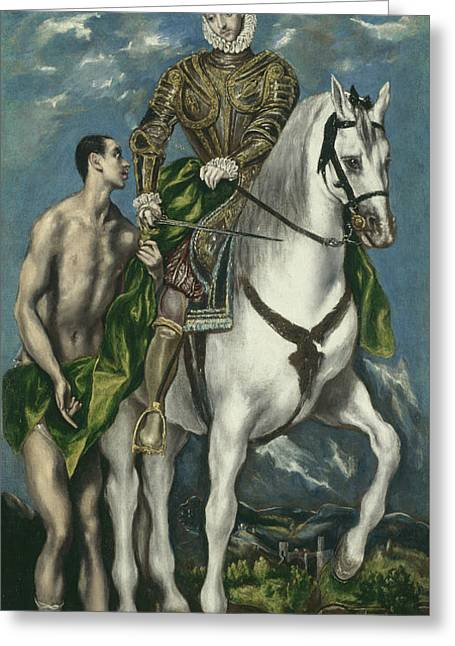 Saint Martin And The Beggar Greeting Card by El Greco