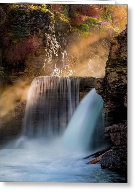 Saint Mary Falls // Glacier National Park  Greeting Card