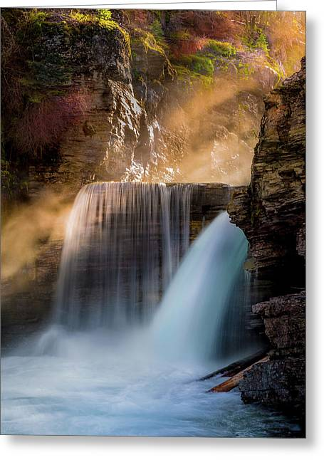 Saint Mary Falls // Glacier National Park  Greeting Card