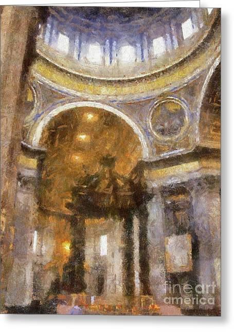 Saint Peter's, Rome By Sarah Kirk Greeting Card