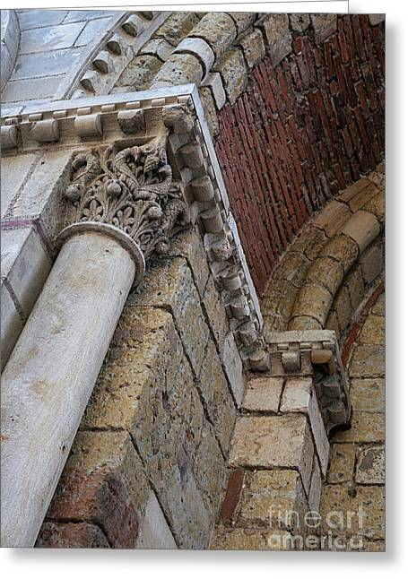 Saint Sernin Basilica Architectural Detail Greeting Card by Elena Elisseeva