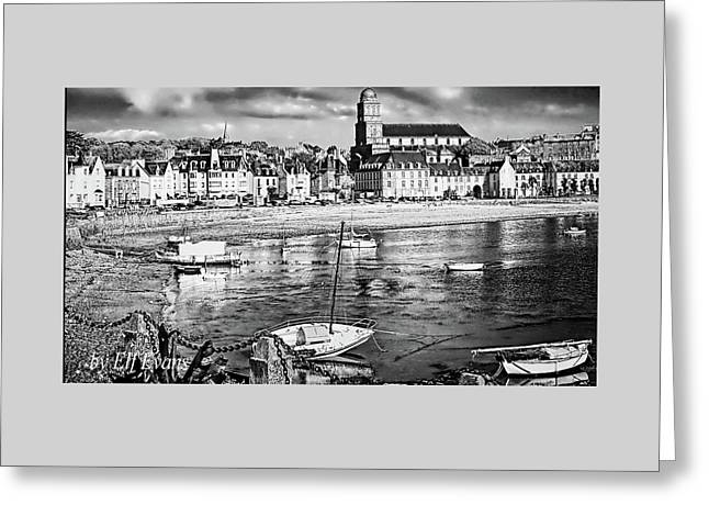 Greeting Card featuring the photograph Saint Servan Anse by Elf Evans