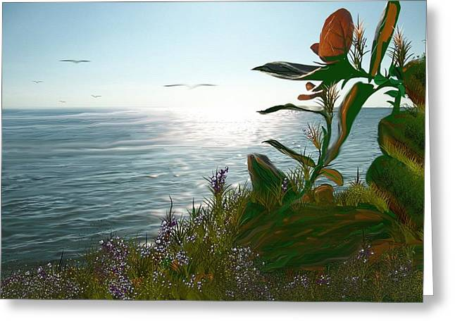 Salinas Seascape Greeting Card