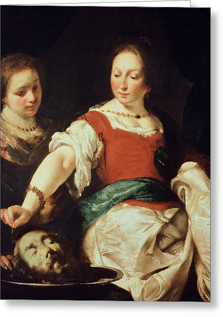 Salome Greeting Card by Bernardo Strozzi