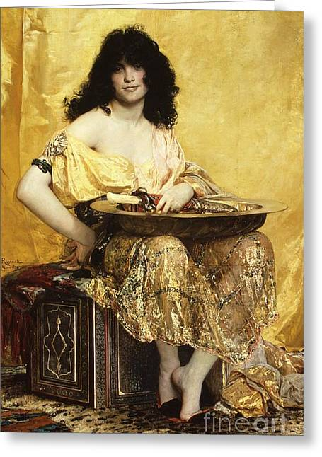 Salome  Greeting Card by Pg Reproductions