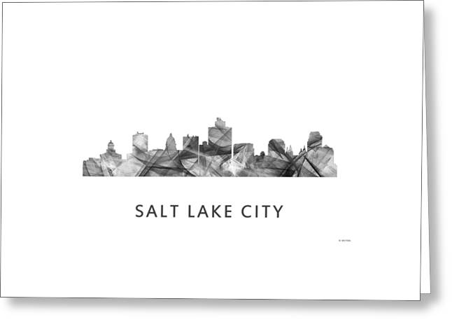 Salt Lake City Utah Skyline Greeting Card by Marlene Watson