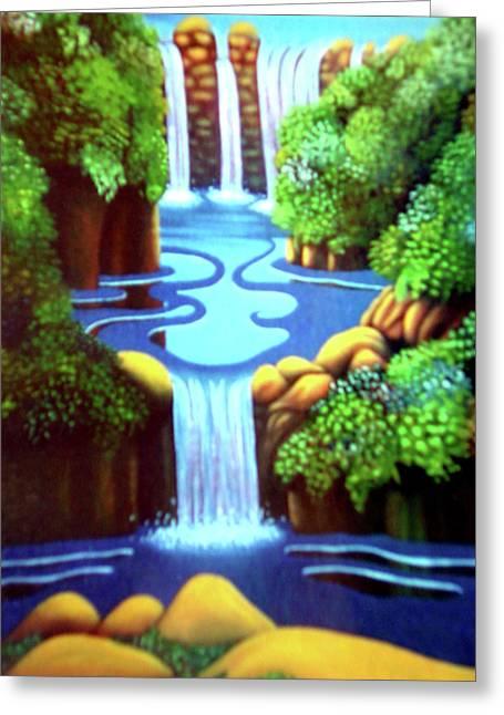 Saltwater Falls Greeting Card by Barbara Stirrup