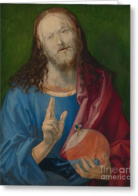 Salvator Mundi Greeting Card