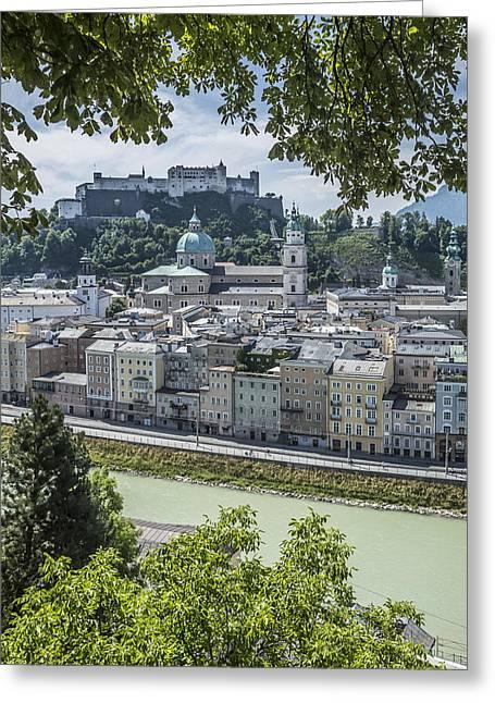 Salzburg Gorgeous Old Town Greeting Card by Melanie Viola