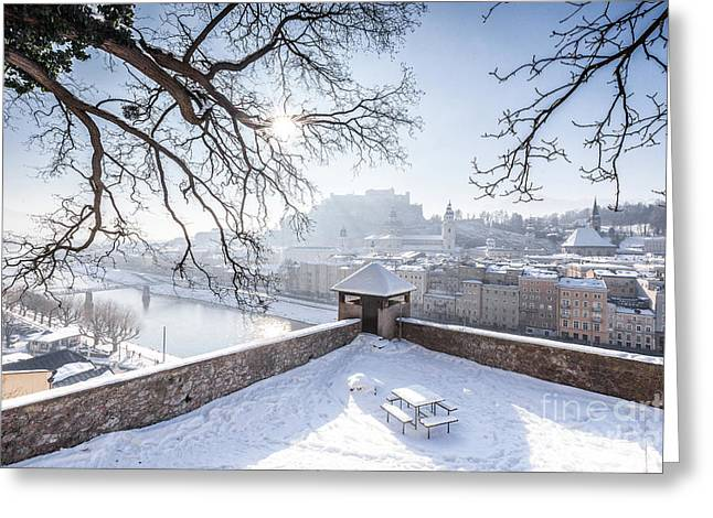 Salzburg Winter Dreams Greeting Card by JR Photography