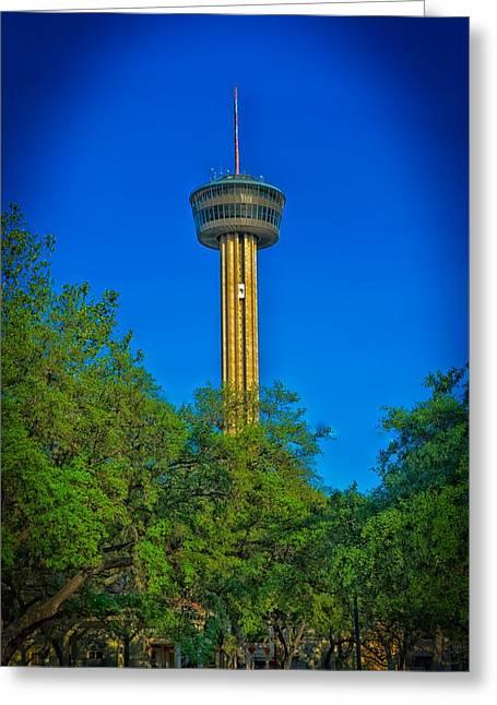 San Antonio's Tower Of The Americas Greeting Card