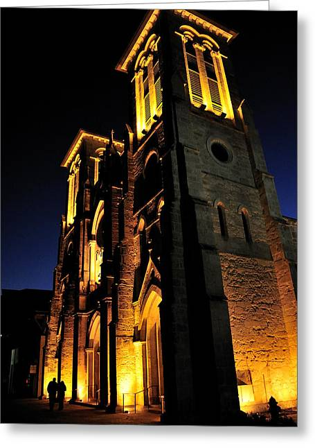 San Fernando Cathedral Greeting Card by Iris Greenwell