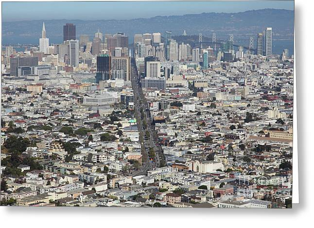 San Francisco California From Twin Peaks 5d28037 Greeting Card