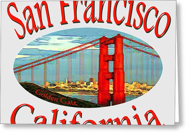 San Francisco California Design Greeting Card