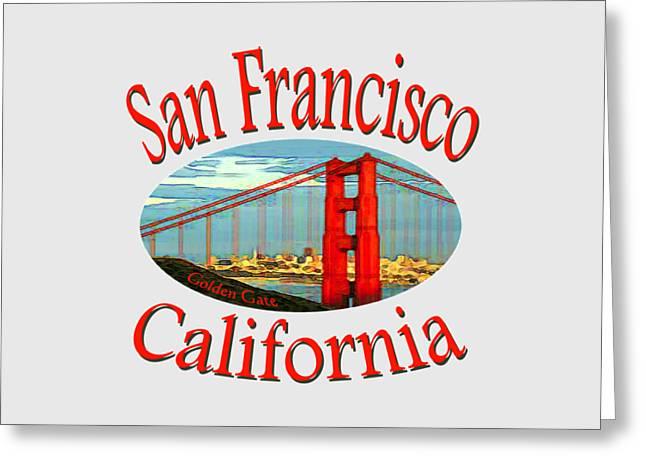 San Francisco California Design Greeting Card