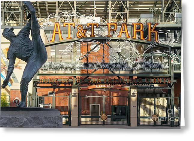 San Francisco Giants Att Park Juan Marachal O'doul Gate Entrance Dsc5790 Greeting Card