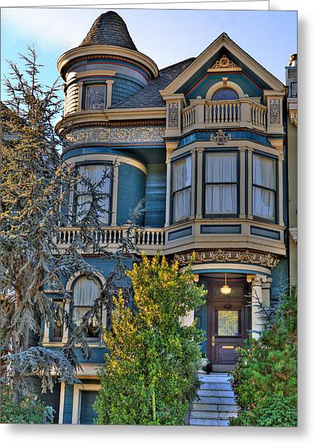 San Francisco Victorian Greeting Card by Paul Owen