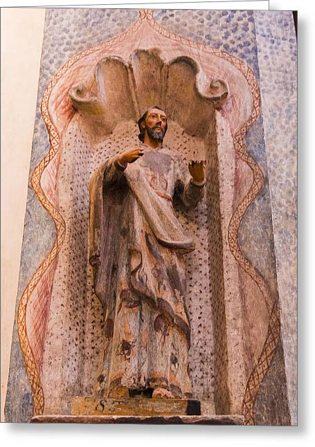 San Xavier Del Bac Mission - Interior Statue - Tucson Arizona Greeting Card