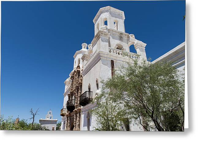 San Xavier Del Bac Mission - Tucson Arizona Greeting Card